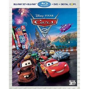 cars five-disc combo dvd blu-ray 3d