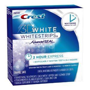Crest 3d White 2-Hr Express Whitestrips Dental Whitening Kit