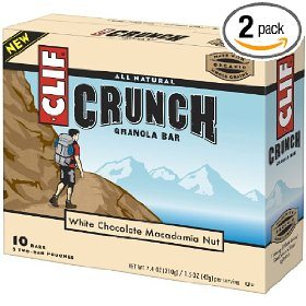 Clif Crunch Bar, White Chocolate Macadamia Nut, 10 Count (Pack of 2)