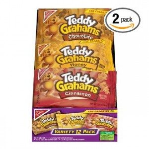 Teddy Grahams Snacks, Variety Pack (1-Ounce Packages), 12-Count Trays (Pack of 2)