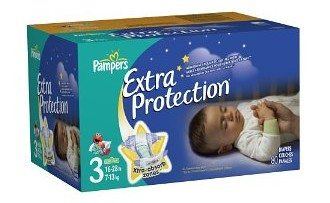 Pampers Extra Protection Size 3 Diapers Big Pack 80 Count