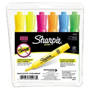 Sharpie Highliters (6 ct.) $2.99, Pocket Highlighters (12 ct.) $6.99 + More
