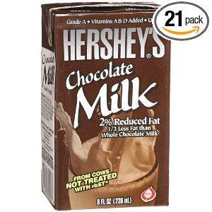 Hersheys Chocolate or Strawberry Milk