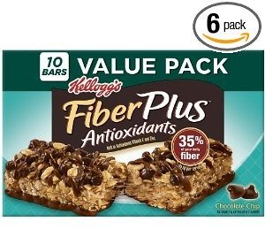 Kelloggs Fiber Plus Chocolate Chip Chewy Bars