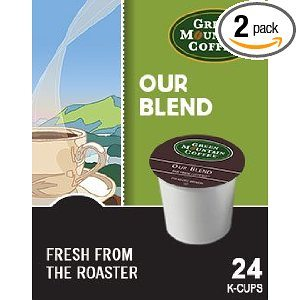 Green Mountain Coffee Our Blend, 24-Count K-Cups for Keurig Brewers (Pack of 2)