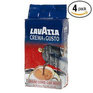 Lavazza Crema e Gusto Ground Coffee, Italian Espresso, 8.8-Ounce Bricks (Pack of 4)
