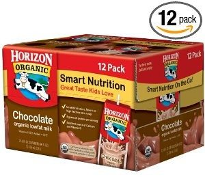 Horizon Organic Low Fat Milk, Chocolate, 8-Ounce Aseptic Cartons (Pack of 12)