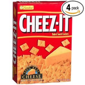 Cheez-It Baked Snack Crackers, Original, 13.7-Ounce Boxes (Pack of 4)