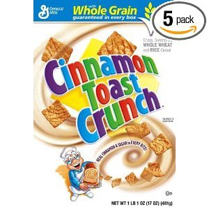 Cinnamon Toast Crunch Cereal, 17-Ounce Boxes (Pack of 5)