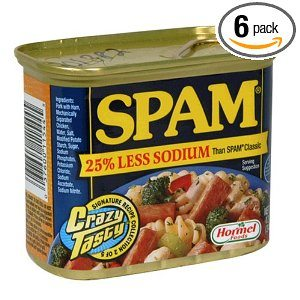 SPAM Less Salt, 12-Ounce Cans (Pack of 6)