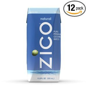 ZICO Pure Premium Coconut Water, Natural, 11.2-Ounce Tetra Paks (Pack of 12)
