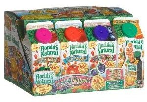 Florida's Natural Assorted Flavors Nuggets, Mini Juice, 1.5-Ounce Carton (Pack of 12)