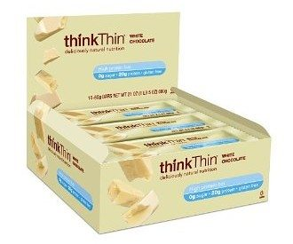 thinkThin Protein Bar, White Chocolate, Gluten Free, 21-Ounce Bars (Pack of 10)