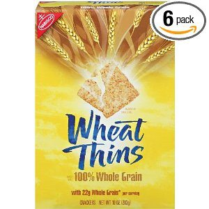 Wheat Thins 100% Whole Grain Crackers, 10-Ounce Units (Pack of 6)