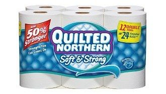 Quilted Northern Bath Tissue Soft and Strong Double Roll, 12 Count