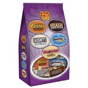 Hershey's Halloween Assorted Snack Size Chocolate, 125-Piece, 53.13-Ounce Bag