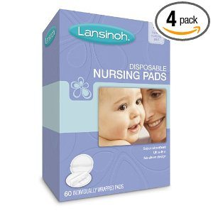 Lansinoh 20265 Disposable Nursing Pads, 60-Count Boxes (Pack of 4)