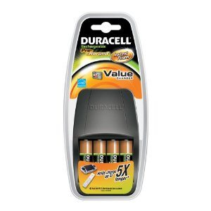 Duracell Value Charger With 4AA Pre Charged Rechargeable Nimh Batteries, CEF14DX4
