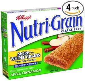 Nutri-Grain Cereal Bars, Apple Cinnamon, 8-Count Bars (Pack of 4)