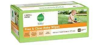 Seventh Generation Free & Clear Baby Wipes, 350 count