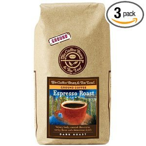 The Coffee Bean & Tea Leaf, Hand-Roasted Espresso Whole Bean Coffee, 12-Ounce Bags (Pack of 3)