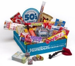 Hometown Favorites 1950's Nostalgic Candy Gift Box, Retro 50's Candy, 3-Pound