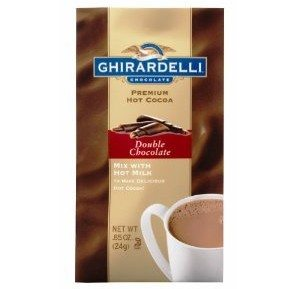 Ghirardelli Chocolate Premium Hot Cocoa Double Chocolate, 0.85-Ounce Packets (Pack of 12)