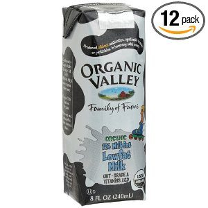 Organic Valley White 1 % Milkfat Lowfat Milk, 8-Ounce Carton (Pack of 12)