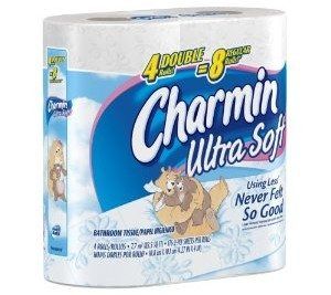 Charmin Ultra Soft, Double Rolls, 4 Count Packs (Pack of 10) 40 Total Rolls
