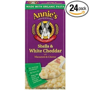 Annie's Homegrown Shells & White Cheddar, 6-Ounce Boxes (Pack of 24) Deal