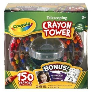 Crayola 52-0029 Crayola 150-Count Telescoping Crayon Tower, Storage Case, Sharpener Deal