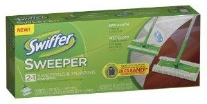 Swiffer Sweeper 2 in 1 Mop and Broom Floor Cleaner Starter Kit Deal