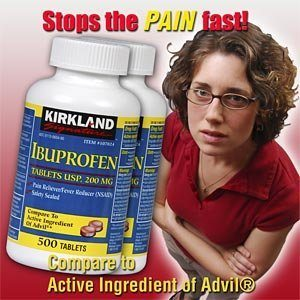 Kirkland Signature Ibuprofen 200mg,500-Count, (Pack of 2) Deal