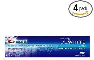 Crest 3D White Vivid Fluoride Anticavity Toothpaste Radiant Mint Flavor Deal