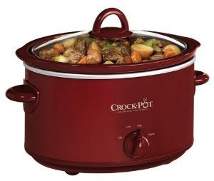 Crock-Pot SCV401TR 4-Quart Oval Manual Slow Cooker, Red Deal
