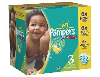 Pampers Baby Dry Size 3 Diapers Economy Pack Plus 222 Count Deal