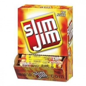 Slim Jim Smoked Snack Sticks, Original, 0.28-Ounce Sticks (Pack of 100) Deal