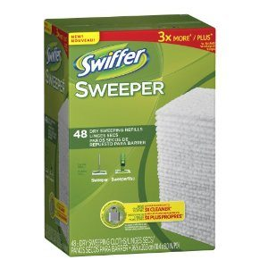 Sweeper Dry Sweeping Cloths Mop and Broom Unscented Floor Cleaner 48 Count Deal