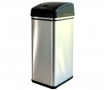 iTouchless Deodorizer Touch-Free Sensor 13-Gallon Automatic Stainless-Steel Trash Can Deal