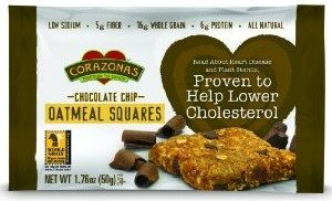 Corazonas Oatmeal Squares, Chocolate Chip, 12 - 1.76-Ounce Bars Deal