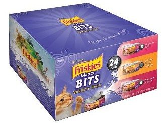 Friskies Cat Food Meaty Bits Variety Pack, 24-Count Deal