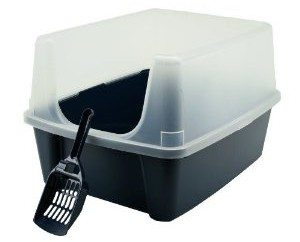 Iris CLH-12 Open-Top Litter Box with Shield and Scoop Deal