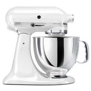 KitchenAid KSM150PSWH Artisan Series 5-Quart Mixer, White Deal