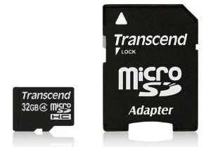 Transcend 32 GB microSDHC Flash Memory Card TS32GUSDHC4E [Amazon Frustration-Free Packaging] Deal