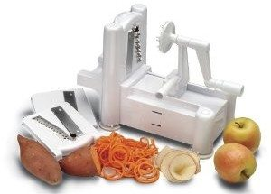 World Cuisine A4982799 Tri-Blade Plastic Spiral Vegetable Slicer Deal