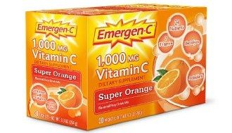 Emergen-C Powdered Drink Mix, Super Orange, 1,000 Mg 30-Count Packets 9.3 Oz. Deal