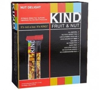 KIND Fruit & Nut, Nut Delight, All Natural, Gluten Free Bars (Pack of 12) Deal