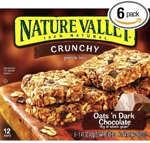 Nature Valley Crunchy Granola Bars, Oats 'n Dark Chocolate, 12-Count Boxes (Pack of 6) Deal
