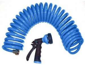 Orbit 25-Foot Blue Coil Hose & Spray Nozzle 27890 Deal