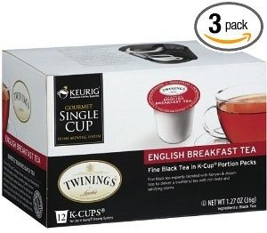 Twinings English Breakfast Tea, K-Cup Portion Pack for Keurig K-Cup Brewers, 12-Count (Pack of 3) Deal